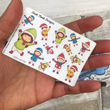 Christmas / Winter Kids Children (Small Sampler Size) A734