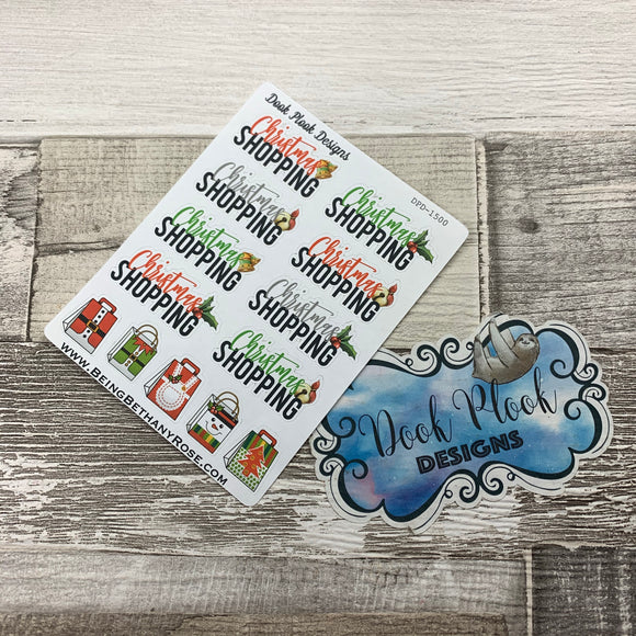 Christmas shopping stickers (DPD1500)