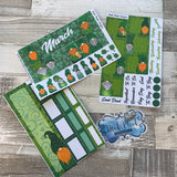 St Patricks Day (can change month) Monthly View Kit for the Erin Condren Planners