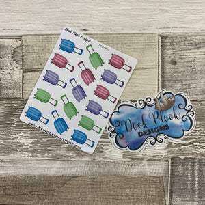 Suitcase stickers for Erin Condren, Plum Paper, Filofax, Kikki K (DPD982)