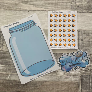 Weight loss jar star stickers (DPD1275)