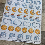 Moon stickers (DPD1838)
