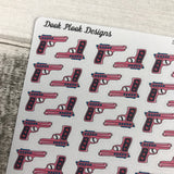 Pink girly gun stickers (DPD1343)