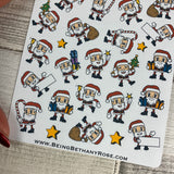 Santa Christmas stickers (DPD884)