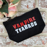 Vampire Teabags (red and White) - Tampon, pad, sanitary bag / Period Pouch