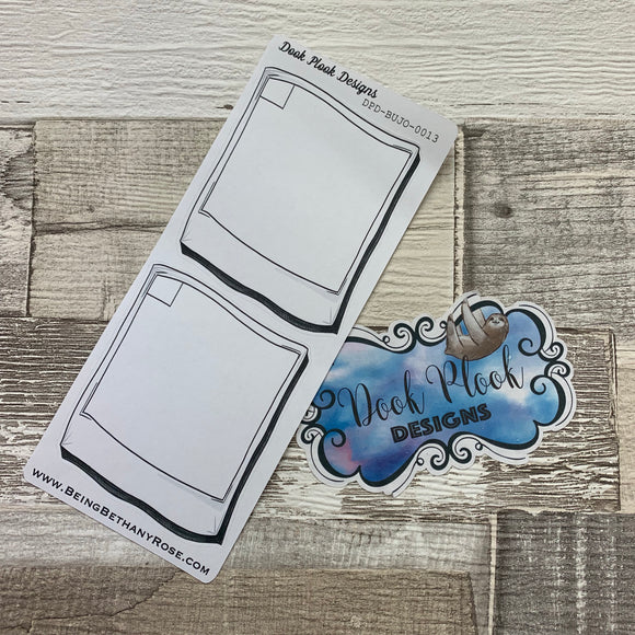 Bullet Journal Style photo box stickers (BUJO-0013)