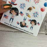 American Girl (Flag) stickers (DPD1460)