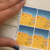 Beach holiday full box stickers (DPD562-563)