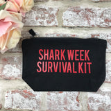 Shark week survival kit- Tampon, pad, sanitary bag / Period Pouch