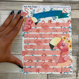Erin Condren Month Note Pages (Frankie the Flamingo)