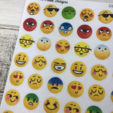 Emoji stickers for Erin Condren, Plum Paper, Filofax, Kikki K (DPD936)