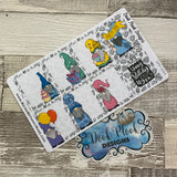 Party Gonk full box stickers for Erin Condren (DPD1669)