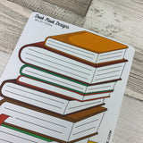 Bullet Journal Style Book Tracker a5 sticker (DPD004)