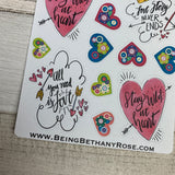Love quotes and hearts stickers (DPD1306)