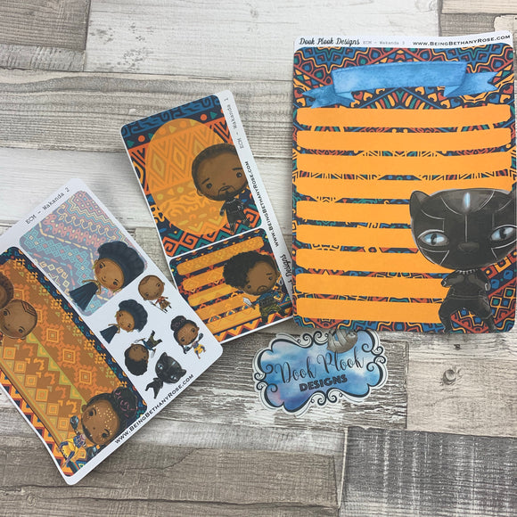 Erin Condren Month Note Pages (Wakanda)