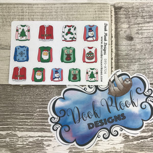 Christmas Jumpers stickers (Small Sampler Size) A724