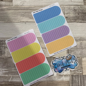 Double length list box stickers (DPD462)