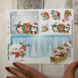 Erin Condren Month Note Pages (Christmas Animals)
