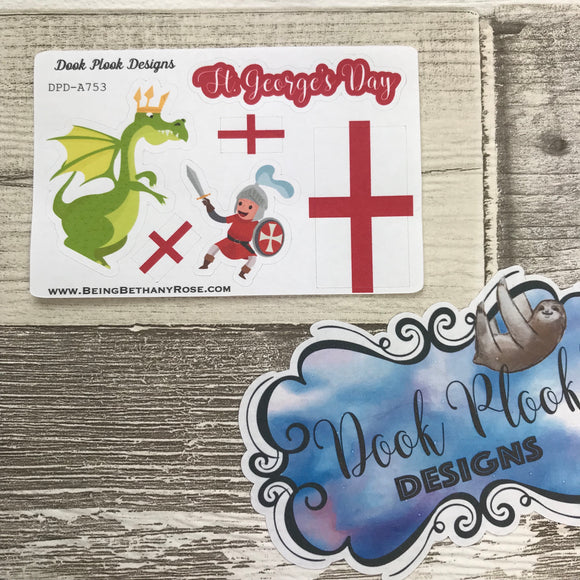 St George's Day stickers (Small Sampler Size) A753