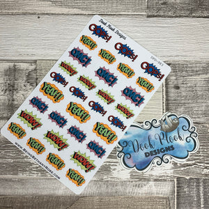 Comic Word stickers (DPD983)