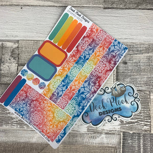 (0035) Passion Planner Daily stickers - Rainbow Mandala