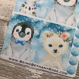 Winter animal full box stickers (DPD1510)