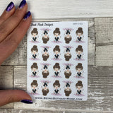 White Woman - Beauty / Make Up Stickers (DPD1421)