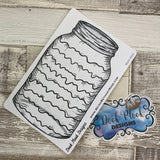 Mason jar sticker (wavy lines) for bullet journals (BUJO-0022)
