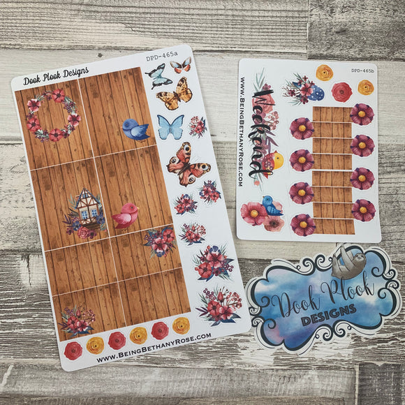 Butterfly and flower week sticker set (DPD465)