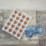 Hipster Fox stickers  (DPD326)