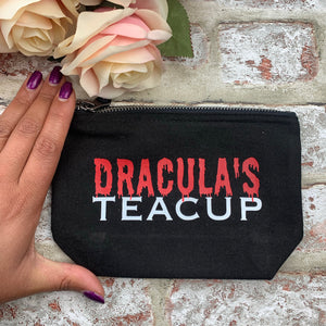 Copy Dracula's Teacup (Red and White)- Tampon, pad, sanitary bag / Period Pouch