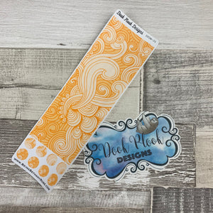 Passion Planner Hour Cover up / Washi strip stickers (Yellow Swirl DPDW-35)