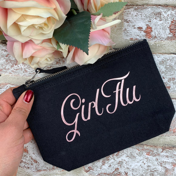 Girl Flu ( Rose Gold)- Tampon, pad, sanitary bag / Period Pouch