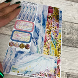 (0006) Passion Planner Daily stickers - Wild heather
