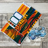 (0120) Passion Planner Daily stickers - Rainbow Zebra