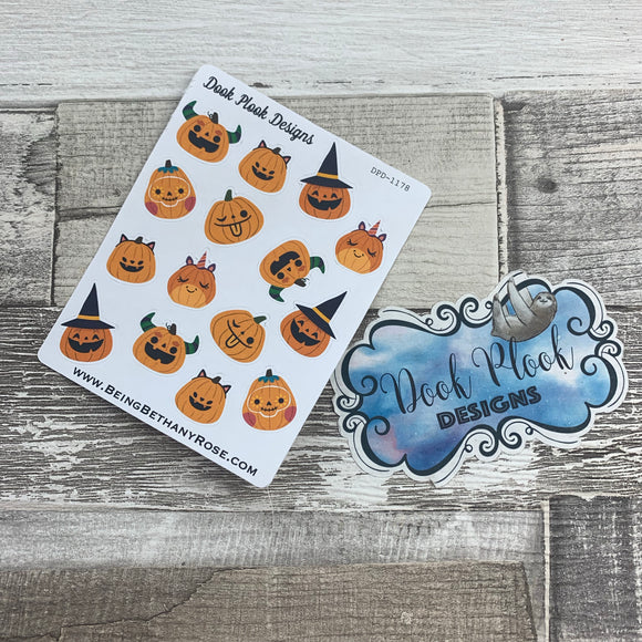 Funny pumpkin stickers (DPD1178)