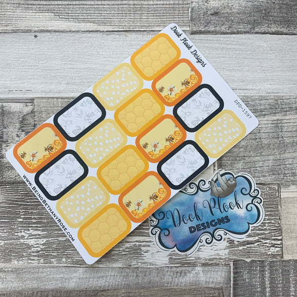 Bee half box stickers (DPD1597)