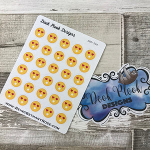Love emoji stickers for Erin Condren, Plum Paper, Filofax, Kikki K (DPD594)