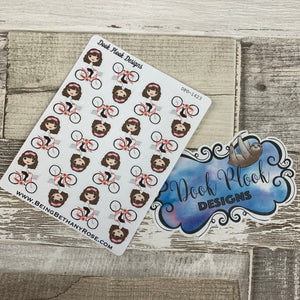 White Woman - Selfie Stickers (DPD1424)