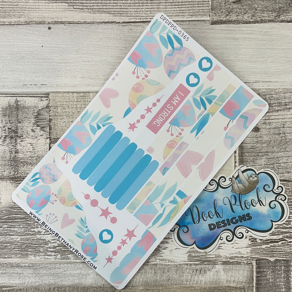 (0365) Passion Planner Daily Wave stickers - Pastel Eggs