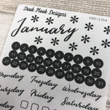 Monthly Kit stickers  (DPD1354)