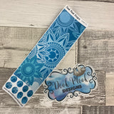 Passion Planner Hour Cover up / Washi strip stickers (Blue Mandala DPDW-31)