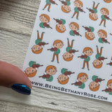 Violin player stickers (DPD612)