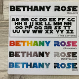 Personalised name stickers for planners (Matte, Gloss or Foil, 28 different colours) 0008-Galaxy