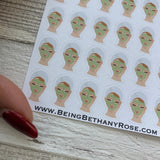 Facial / face mask stickers  (DPD230)