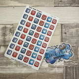 Social media stickers (DPD300)