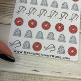 Sewing (Thimble, needle, button) sticker (DPD1217)