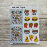Hungry girls are angry girls (take away) stickers (DPD1307)
