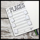 Places I'd like to go travel sticker for bullet journals (BNWP0011)