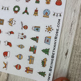 Small Christmas icon stickers (DPD319)